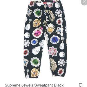 Supreme Jewels Sweatpants, NWT, Medium